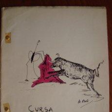 Manuscritos antiguos: MECANOSCRITO ORIGINAL. CURSA DE BRAUS. BOTA TOTXO. POLLENÇA. MALLORCA, 1966. DIBUJOS ORIGINALES.. Lote 102207579