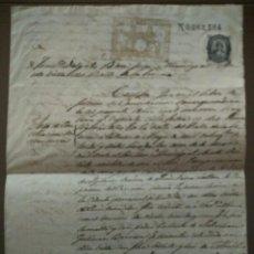 Manuscritos antiguos: DOCUMENTO ANTIGUO SIGLO XIX, LEGIBLE Y COMPLETO. Lote 103580315