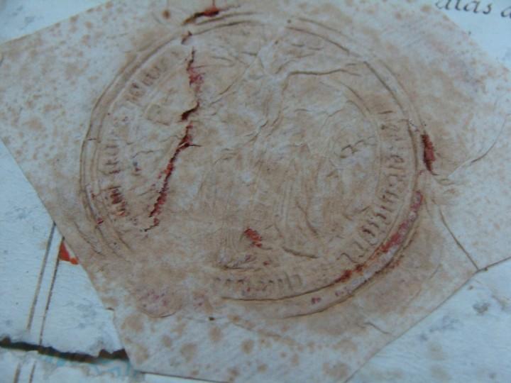 Manuscritos antiguos: 1594. PERGAMINO. INQUISICIÓN. CABRA, CÓRDOBA. NOMBRAMIENTO, SELLO, FIRMAS. - Foto 2 - 103705011