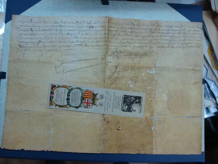 Manuscritos antiguos: 1594. PERGAMINO. INQUISICIÓN. CABRA, CÓRDOBA. NOMBRAMIENTO, SELLO, FIRMAS. - Foto 9 - 103705011