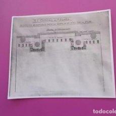 Manuscritos antiguos: FOTODE PLANO ORIGINAL PROYECTO DE RETABLO PARA LA CAPILLA DE NUESTRA SEÑORA DEL PILAR CATEDRAL MALA. Lote 103718527