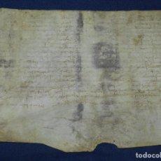 Manuscritos antiguos: (M) PERGAMINO AÑO 1285 EPOCA PEDRO EL GRANDE - 24,5X 19 CM ,SEÑALES DE USO DE LA EPOCA. Lote 104295163