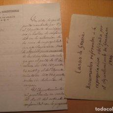 Manuscritos antiguos: INTERESANTES MANUSCRITOS ANTIGUOS RELACIONADOS CON EL BARRIO DE GRACIA DE BARCELONA SIGLO XIX. Lote 105075267
