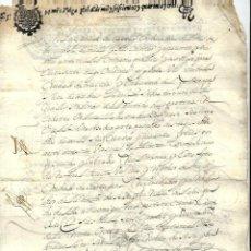 Manuscritos antiguos: P100-AÑO 1643 -MANUSCRITO -CON SELLO TERCERO DE TREINTA Y CUATRO MARAVEDIS . Lote 105075819