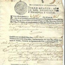 Manuscritos antiguos: P100-AÑO 1735 -MANUSCRITO -CON SELLO CUARTO -CARTA DE PAGO. Lote 105077047
