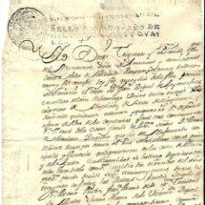 Manuscritos antiguos: P100-AÑO 1740 -MANUSCRITO -CON SELLO CUARTO -CARTA DE PAGO. Lote 105078651