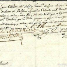 Manuscritos antiguos: P100-AÑO 1721 - RECIBO DE PAGO -AL CONVENTO -RELIGIOSAS AGUSTINAS CALZADAS DE SANTA ISABEL-MADRID. Lote 105109347