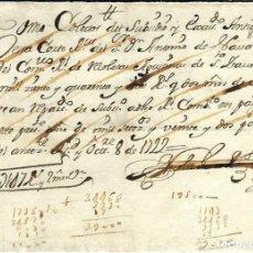 Manuscritos antiguos: P100-AÑO 1722 - RECIBO DE PAGO -AL CONVENTO -RELIGIOSAS AGUSTINAS CALZADAS DE SANTA ISABEL-MADRID. Lote 105110063