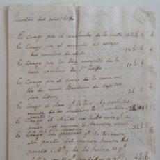 Manuscritos antiguos: MANUSCRITO * AÑOS 1808 A 1812 * GASTOS DE UNA MADRE POR SU HIJO. Lote 105326043