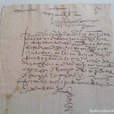 Manuscritos antiguos: MANUSCRITO S. XVI * ESCRITURA PROCESAL * NO DESCIFRADO . Lote 105326167