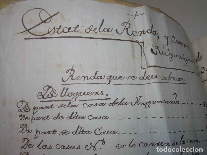 IMPORTANTE MANUSCRITO DE 295 PAGINAS.BARCELONA.MISCELANEA DE PROPIEDADES.CALLE PLATERIA,CARRETAS ETC (Coleccionismo - Documentos - Manuscritos)