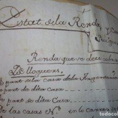 Manuscritos antiguos: IMPORTANTE MANUSCRITO DE 295 PAGINAS.BARCELONA.MISCELANEA DE PROPIEDADES.CALLE PLATERIA,CARRETAS ETC. Lote 105339195