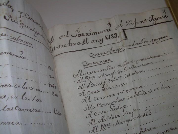Manuscritos antiguos: IMPORTANTE MANUSCRITO DE 295 PAGINAS.BARCELONA.MISCELANEA DE PROPIEDADES.CALLE PLATERIA,CARRETAS ETC - Foto 4 - 105339195