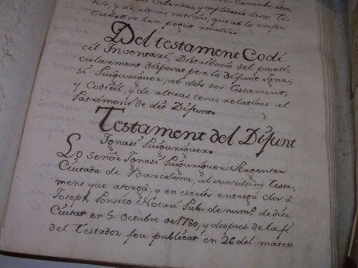 Manuscritos antiguos: IMPORTANTE MANUSCRITO DE 295 PAGINAS.BARCELONA.MISCELANEA DE PROPIEDADES.CALLE PLATERIA,CARRETAS ETC - Foto 7 - 105339195