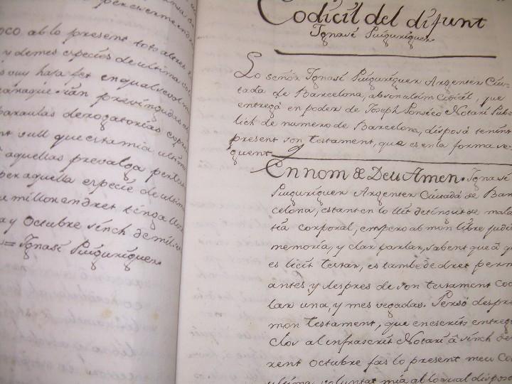 Manuscritos antiguos: IMPORTANTE MANUSCRITO DE 295 PAGINAS.BARCELONA.MISCELANEA DE PROPIEDADES.CALLE PLATERIA,CARRETAS ETC - Foto 9 - 105339195