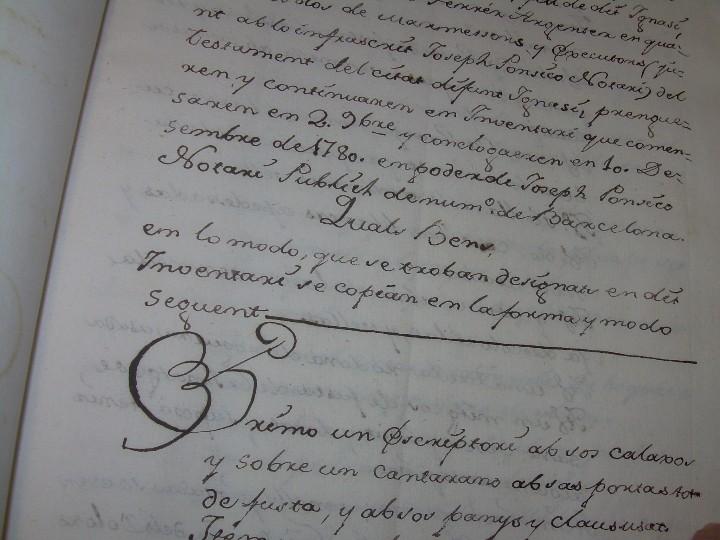 Manuscritos antiguos: IMPORTANTE MANUSCRITO DE 295 PAGINAS.BARCELONA.MISCELANEA DE PROPIEDADES.CALLE PLATERIA,CARRETAS ETC - Foto 11 - 105339195