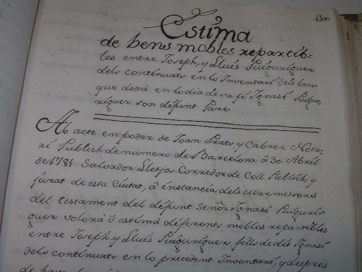 Manuscritos antiguos: IMPORTANTE MANUSCRITO DE 295 PAGINAS.BARCELONA.MISCELANEA DE PROPIEDADES.CALLE PLATERIA,CARRETAS ETC - Foto 12 - 105339195