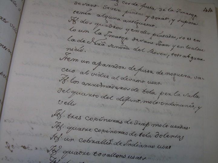 Manuscritos antiguos: IMPORTANTE MANUSCRITO DE 295 PAGINAS.BARCELONA.MISCELANEA DE PROPIEDADES.CALLE PLATERIA,CARRETAS ETC - Foto 13 - 105339195