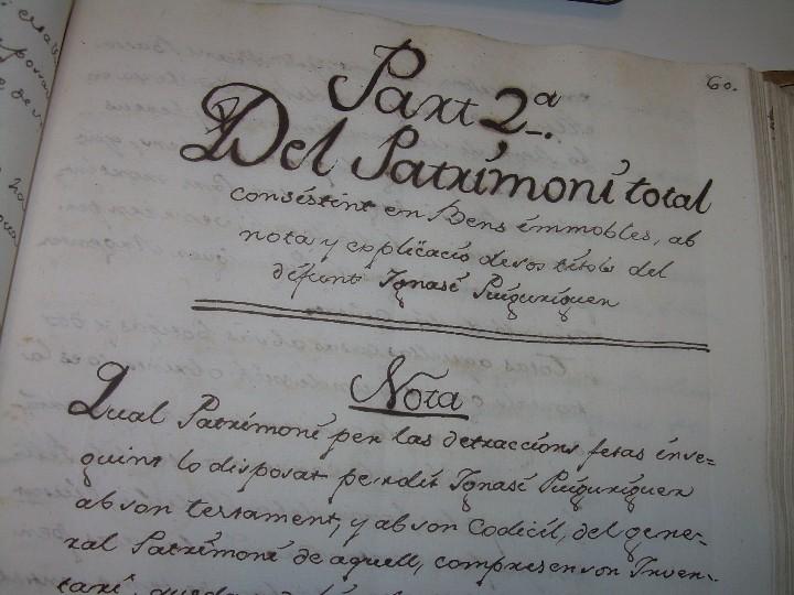 Manuscritos antiguos: IMPORTANTE MANUSCRITO DE 295 PAGINAS.BARCELONA.MISCELANEA DE PROPIEDADES.CALLE PLATERIA,CARRETAS ETC - Foto 16 - 105339195