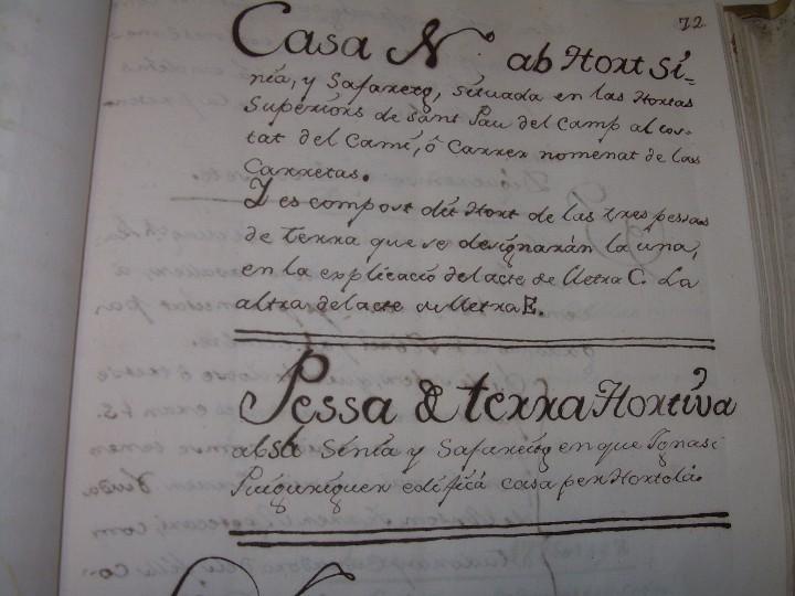 Manuscritos antiguos: IMPORTANTE MANUSCRITO DE 295 PAGINAS.BARCELONA.MISCELANEA DE PROPIEDADES.CALLE PLATERIA,CARRETAS ETC - Foto 17 - 105339195