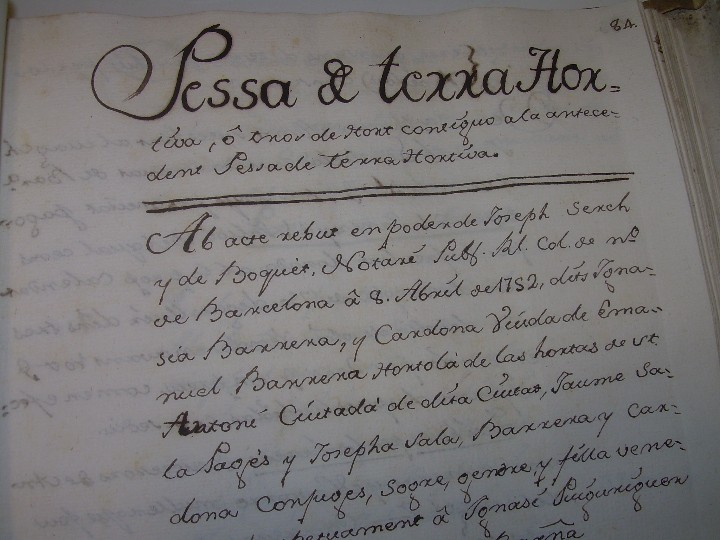 Manuscritos antiguos: IMPORTANTE MANUSCRITO DE 295 PAGINAS.BARCELONA.MISCELANEA DE PROPIEDADES.CALLE PLATERIA,CARRETAS ETC - Foto 18 - 105339195