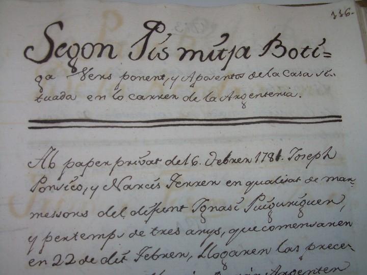 Manuscritos antiguos: IMPORTANTE MANUSCRITO DE 295 PAGINAS.BARCELONA.MISCELANEA DE PROPIEDADES.CALLE PLATERIA,CARRETAS ETC - Foto 21 - 105339195