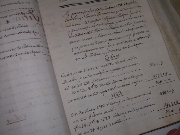 Manuscritos antiguos: IMPORTANTE MANUSCRITO DE 295 PAGINAS.BARCELONA.MISCELANEA DE PROPIEDADES.CALLE PLATERIA,CARRETAS ETC - Foto 22 - 105339195