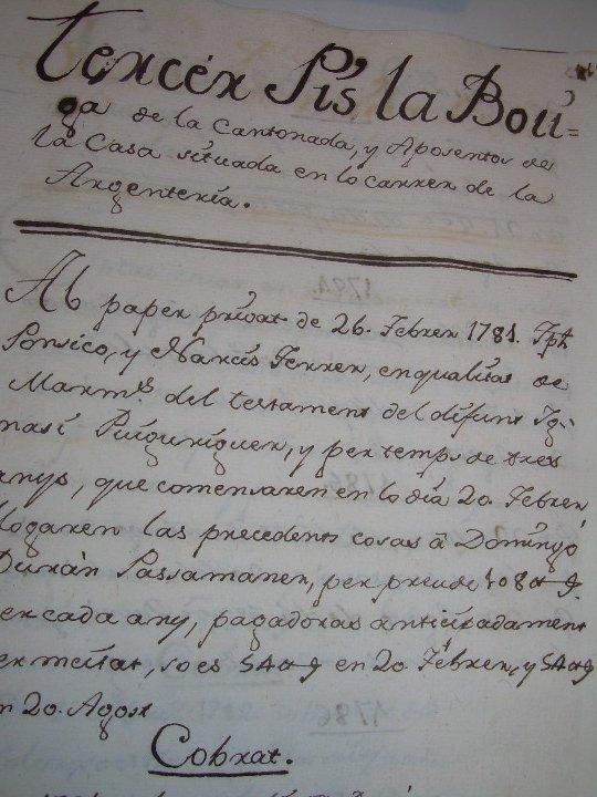 Manuscritos antiguos: IMPORTANTE MANUSCRITO DE 295 PAGINAS.BARCELONA.MISCELANEA DE PROPIEDADES.CALLE PLATERIA,CARRETAS ETC - Foto 23 - 105339195