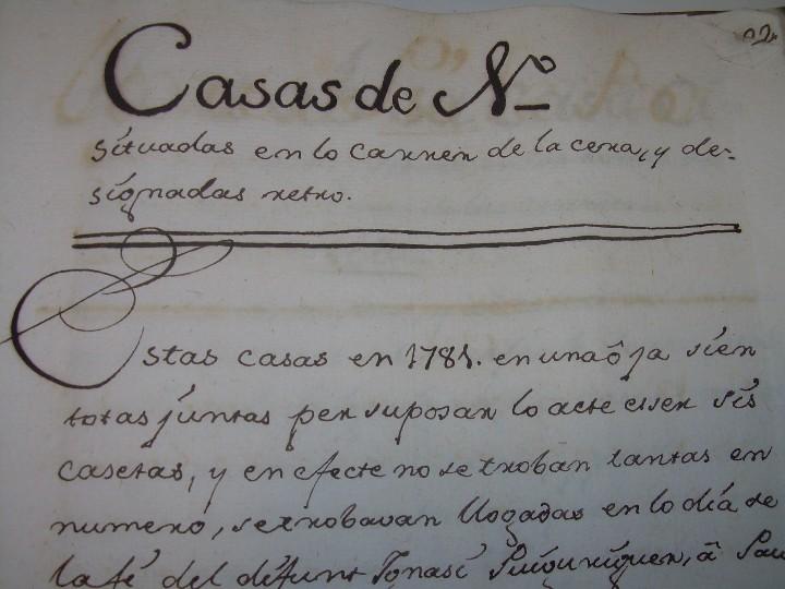 Manuscritos antiguos: IMPORTANTE MANUSCRITO DE 295 PAGINAS.BARCELONA.MISCELANEA DE PROPIEDADES.CALLE PLATERIA,CARRETAS ETC - Foto 24 - 105339195