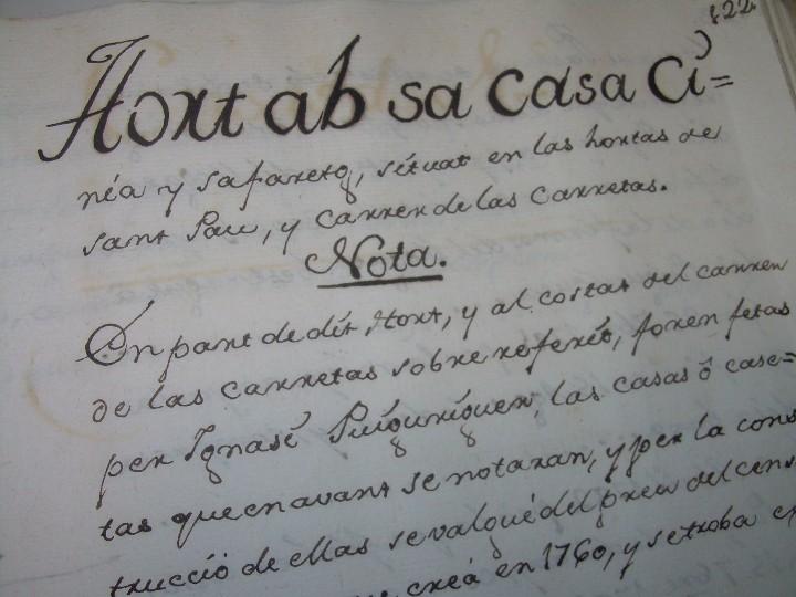 Manuscritos antiguos: IMPORTANTE MANUSCRITO DE 295 PAGINAS.BARCELONA.MISCELANEA DE PROPIEDADES.CALLE PLATERIA,CARRETAS ETC - Foto 25 - 105339195