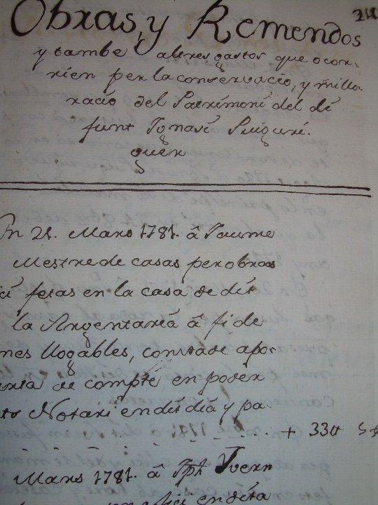 Manuscritos antiguos: IMPORTANTE MANUSCRITO DE 295 PAGINAS.BARCELONA.MISCELANEA DE PROPIEDADES.CALLE PLATERIA,CARRETAS ETC - Foto 30 - 105339195
