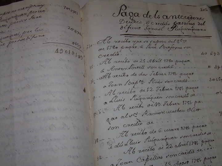 Manuscritos antiguos: IMPORTANTE MANUSCRITO DE 295 PAGINAS.BARCELONA.MISCELANEA DE PROPIEDADES.CALLE PLATERIA,CARRETAS ETC - Foto 35 - 105339195