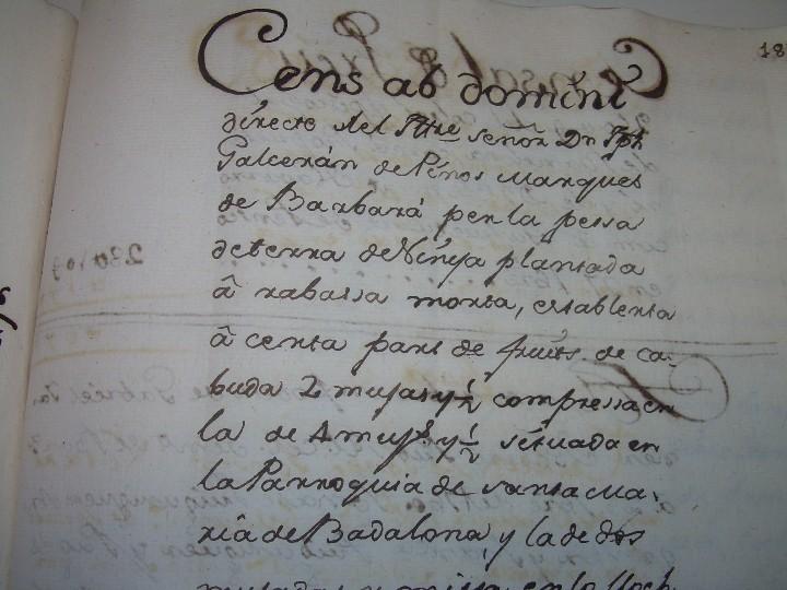 Manuscritos antiguos: IMPORTANTE MANUSCRITO DE 295 PAGINAS.BARCELONA.MISCELANEA DE PROPIEDADES.CALLE PLATERIA,CARRETAS ETC - Foto 36 - 105339195