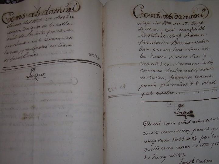 Manuscritos antiguos: IMPORTANTE MANUSCRITO DE 295 PAGINAS.BARCELONA.MISCELANEA DE PROPIEDADES.CALLE PLATERIA,CARRETAS ETC - Foto 37 - 105339195