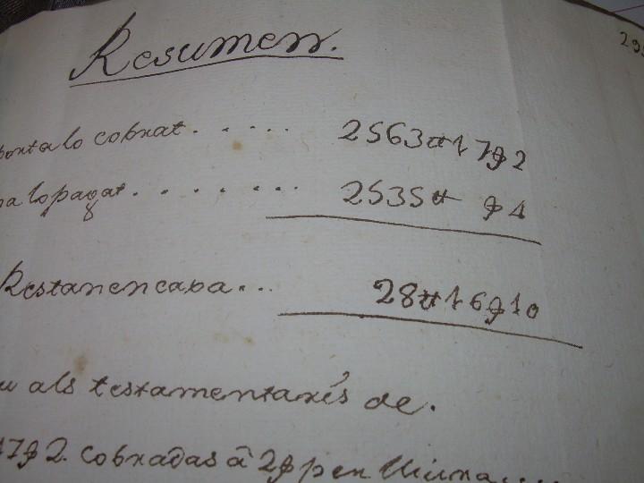 Manuscritos antiguos: IMPORTANTE MANUSCRITO DE 295 PAGINAS.BARCELONA.MISCELANEA DE PROPIEDADES.CALLE PLATERIA,CARRETAS ETC - Foto 43 - 105339195