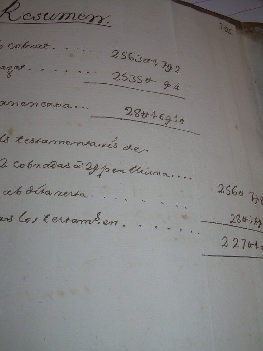 Manuscritos antiguos: IMPORTANTE MANUSCRITO DE 295 PAGINAS.BARCELONA.MISCELANEA DE PROPIEDADES.CALLE PLATERIA,CARRETAS ETC - Foto 44 - 105339195