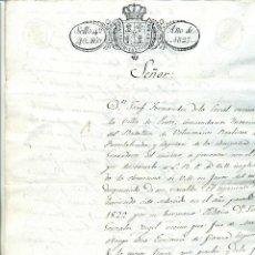 Manuscritos antiguos: 1827 PINTO, MADRID, UN EX MILITAR PIDE PLAZOS PARA PAGAR UNA DEUDA. Lote 105368155