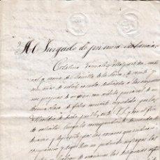 Manuscritos antiguos: 1888 PIEDRAHITA (AVILA) 2 FISCALES DE OFICIO 10 CTS SOBRE DIVORCIO. DOCUMENTO MANUSCRITO SELLADO. Lote 105874447