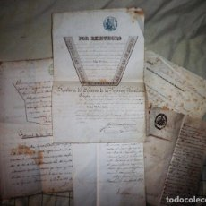 Manuscritos antiguos: TITULOS DE INSPECTOR DE VIGILANCIA Y CELADOR DE BARCELONA - AÑO 1857 - MUY RAROS.. Lote 106093819