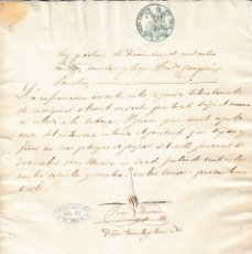 Manuscritos antiguos: 1864 MERIDA FISCAL 2 RLS SELLO JUDICIAL. DOCUMENTO MANUSCRITO PAPEL TIMBRADO. Lote 107245744