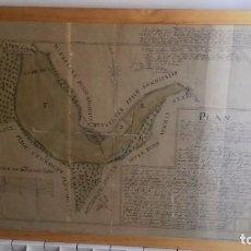 Manuscritos antiguos: PLANO ENTELADO MANUSCRITO DE LAS GUERRAS NAPOLEÓNICAS.QUINTA COALICIÓN. ORIGINAL 1809. Lote 107268115