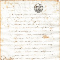 Manuscritos antiguos: 1848 ISABEL II. DOCUMENTO MANUSCRITO, PAPEL SELLADO FISCAL, SELLO 4º DE 40 MARAVEDIS.. Lote 26278080