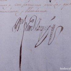 Manuscritos antiguos: SENTENCIA FIRMADA POR EL MARQUÉS DEL RISCO, VALENCIA 1733. Lote 108507891