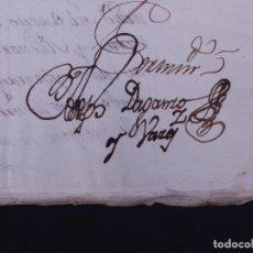 Manuscritos antiguos: MATRIMONIO DE INES DE CAMPOS, DAMA DEL CONDE DE ARANDA, 1788. Lote 108565047