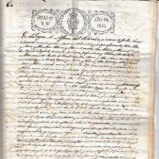 Manuscritos antiguos: 1841 43 ALFABARA DEL PATRIARCA BARBOTO MONCADA FISCALES 2º 2 DOCUMENTOS MANUSCRITO APELLIDO LLEONART. Lote 108655027