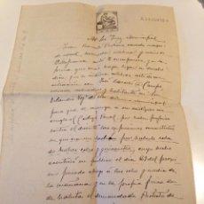 Manuscritos antiguos: DOCUMENTO MANUSCRITO JUZGADO PETRA MALLORCA, ORIGINAL AÑOS 1917. Lote 108688359