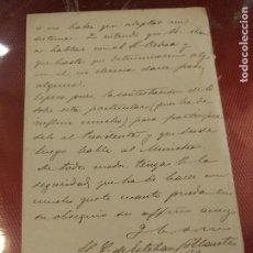 Manuscritos antiguos: DOCUMENTO CON FIRMA ESTEBAN COLLANTES POLITICO Y PERIODISTA, SUBSECRETARIO DE PRESIDENCIA MINISTROS. Lote 108817015