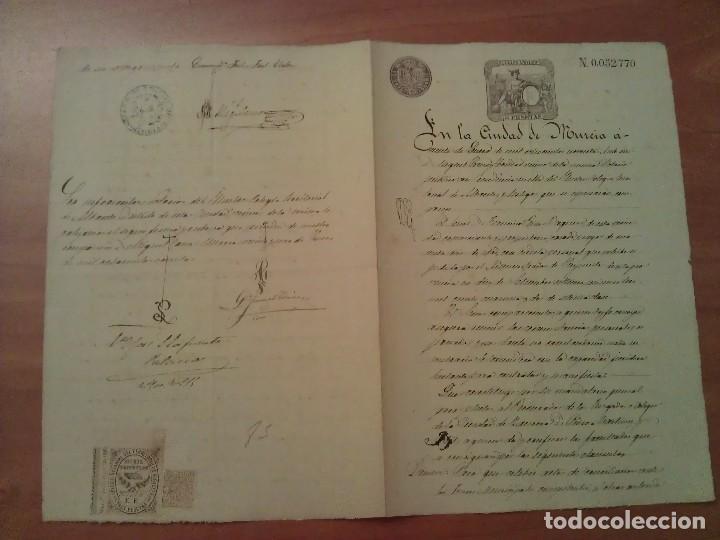 1890 DOCUMENTO JUDICIAL - MURCIA / ALBACETE (Coleccionismo - Documentos - Manuscritos)