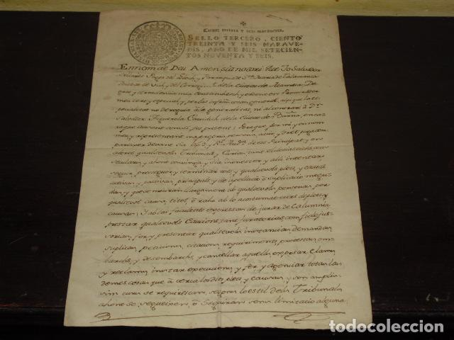 DOCUMENTO MANUSCRITO STA. Mª DE TALAMANCA - AÑO 1796 - (Coleccionismo - Documentos - Manuscritos)