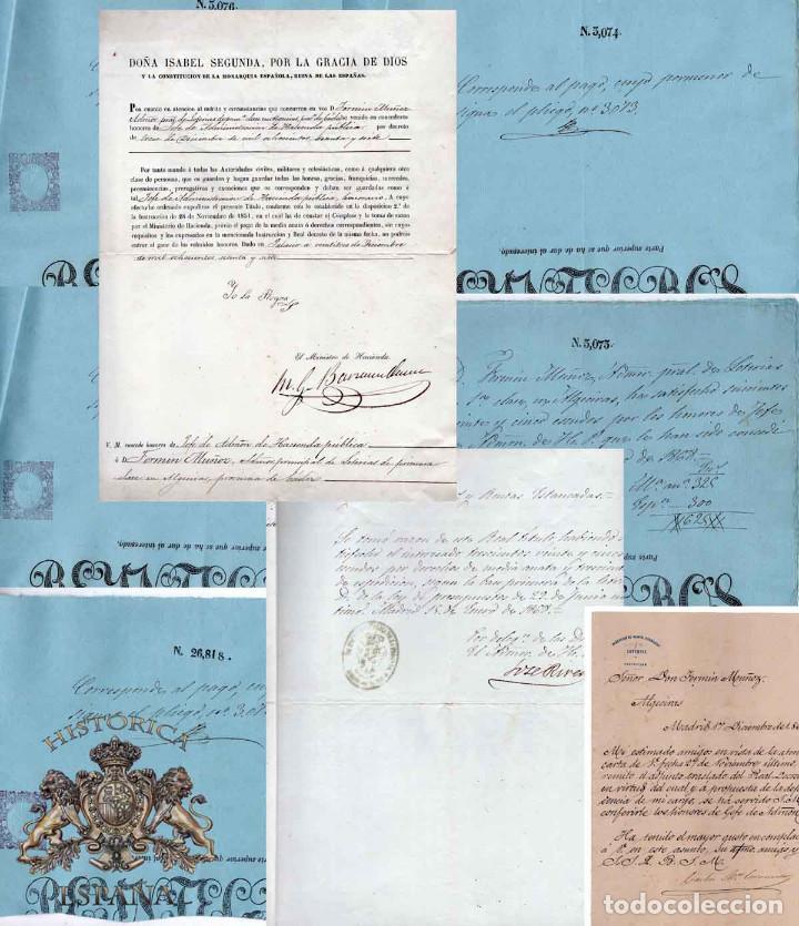 LOTE.CONCEDE JEFE ADMINISTRACIÓN LOTERÍA PÚBLICA.ALGECIRAS.CADIZ. 1866 FIRMA ORIGINAL M.D.HACIENDA. (Coleccionismo - Documentos - Manuscritos)